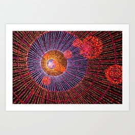 Inside the Christmas Tree Art Print