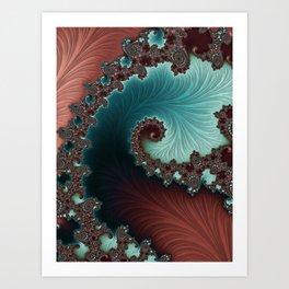 Velvet Crush - Teal/Copper Art Print