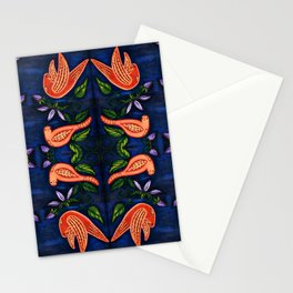 Palomas Noche Symmetrical Art2 Stationery Cards