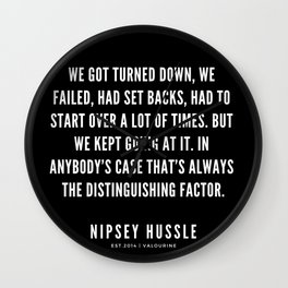 17  | Nipsey Hussle Quotes Wall Clock