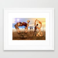 africa Framed Art Prints featuring Africa by teddynash