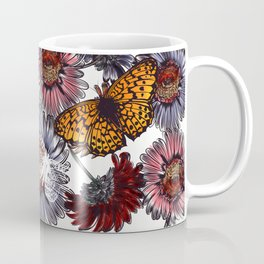 Summer design with daisy flowers and butterflies Coffee Mug