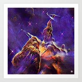 ALTERED Hubble Mystic Mountain- Carina Nebula Art Print