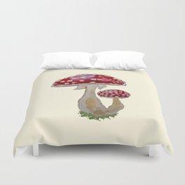 Fly Agaric Cream Duvet Cover
