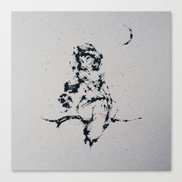 Splaaash Series - Arabian Princess Ink Canvas Print