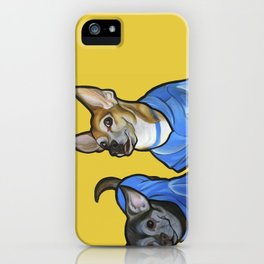 Winston and Chloe the Chihuahuas iPhone Case