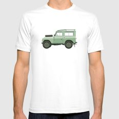 Car illustration - land rover White X-LARGE Mens Fitted Tee