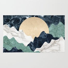Marble mountain landscape Rug