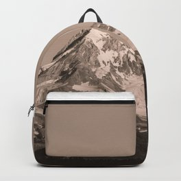 Mount Hood - Black and White - nature photography Backpack