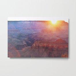 Grand Canyon South Kaibab Trail Sunrise Metal Print