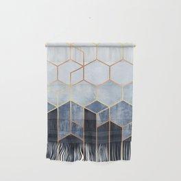 Soft Blue Hexagons Wall Hanging