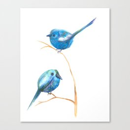 Pajaritos azules /blue birds Canvas Print