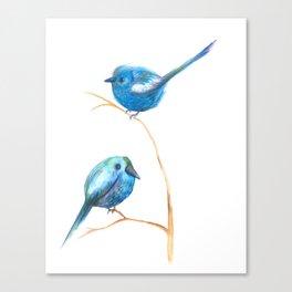 Pajaritos azules /blue birds Canvas Print