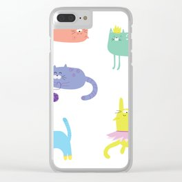 Playful Cats Clear iPhone Case