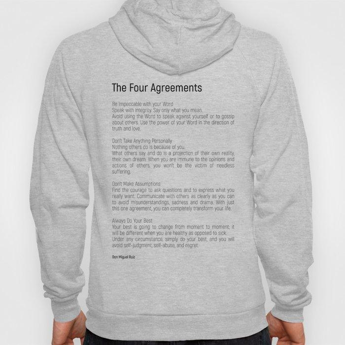 The Four Agreements #blackwhite #minimalism Hoody