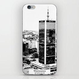 Warszawa minimal city #warsaw #warszawa iPhone Skin