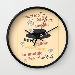 Practically Perfect Wall Clock