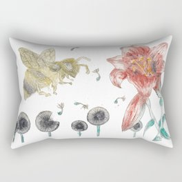 Bee Happy 1 Rectangular Pillow
