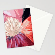 Red Peony Flower Stationery Cards