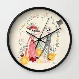 La Catrina y el Catrín Wall Clock