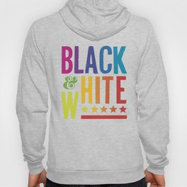 Colorful Black and White Hoody