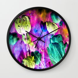 Ocean of Tulips Wall Clock
