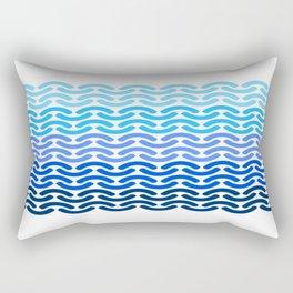 Layered Waves Rectangular Pillow