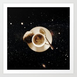 Galaxy coffee Art Print