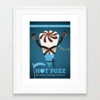 hot fuzz Framed Art Prints featuring Hot Fuzz by ellis