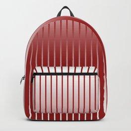 Red Variegated Reverse Stripe Vertical Backpack