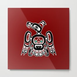 Northwest Pacific coast Kaigani Thunderbird Metal Print