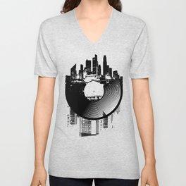 Urban Vinyl of Underground Music Unisex V-Neck