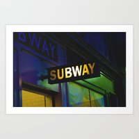 subway Art Prints featuring Subway by Mark Spence