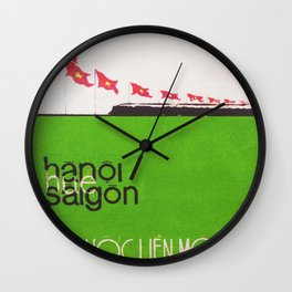Vietnam propaganda poster - A country is unity Wall Clock