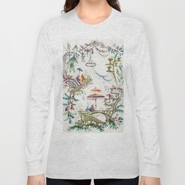 Enchanted Forest Chinoiserie Long Sleeve T-shirt