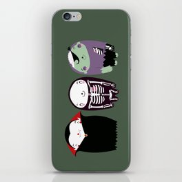 happy monster friends iPhone Skin
