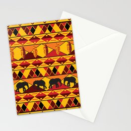 African Tribal Pattern No. 34 Stationery Cards