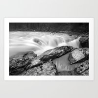 Long Exposure, Canadian Rockies Waterfall Art Print