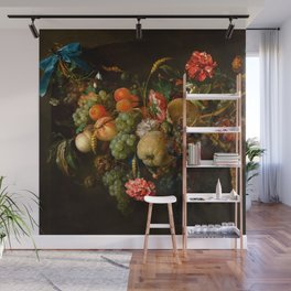 "Jan Davidsz de Heem ""Garland of Fruit and Flowers"" Wall Mural"