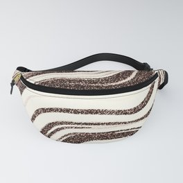 Textured Marble - Brown & Cream Fanny Pack