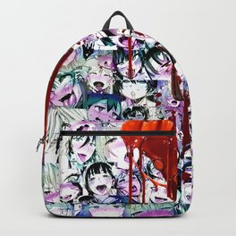 Ahegao Hentai Manga Anime Multicolor Girls Collage Halloween Backpack