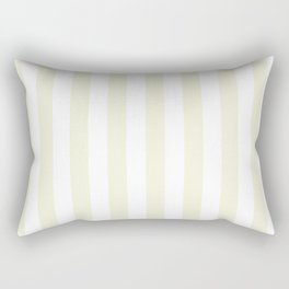Narrow Vertical Stripes - White and Beige Rectangular Pillow