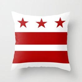 Washington DC District Of Columbia Flag Throw Pillow