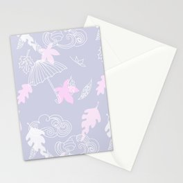 Silver Linings Pinks & Purple Stationery Cards