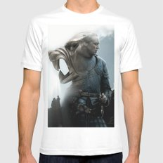 The Hound's Fall MEDIUM Mens Fitted Tee White