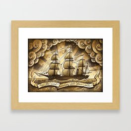 Sailing Winds Framed Art Print