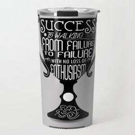Success is walking from failure Winston Churchill Inspirational Quotes Travel Mug