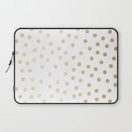 Stylish Gold Polka Dots Laptop Sleeve