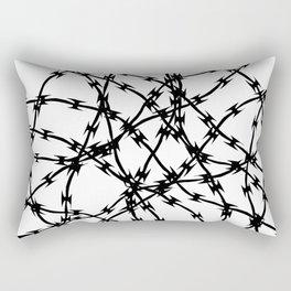 Trapped Black on White Rectangular Pillow
