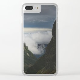 Polish mountains Clear iPhone Case